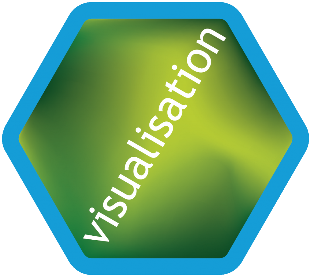 Hexagon light blue Visualisation