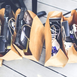 Shopping bags items in