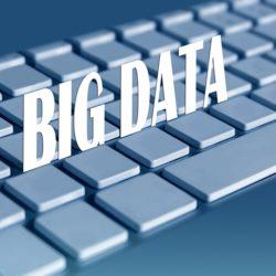 Big data graphic on keyboard