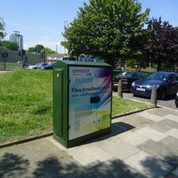 Bt openreach box showing how superfast broadband is coming to worcester