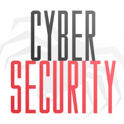Cyber security with a picture of a spider in the background