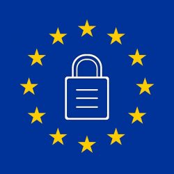 eu flag with a lock in the center