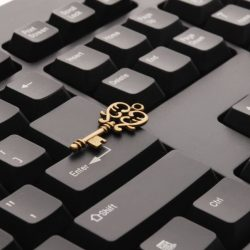 security physical key on keyboard