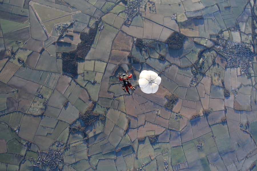 skydive view from above