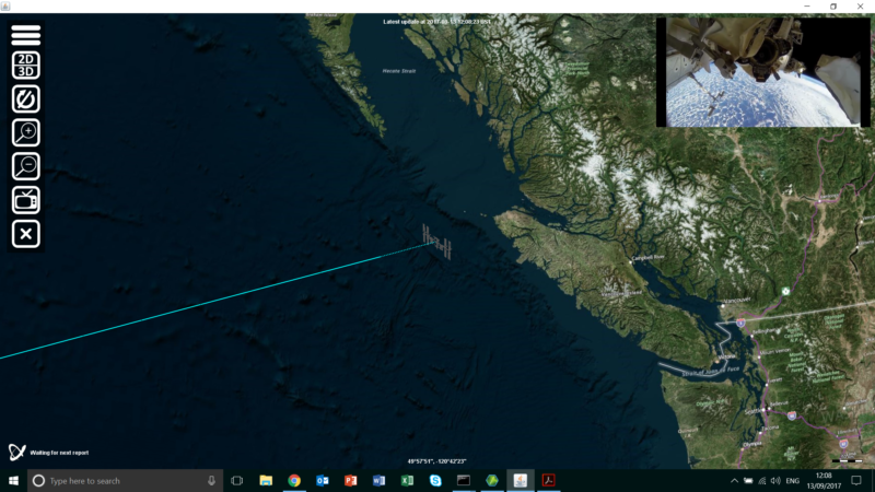 ISS over Vancouver Island