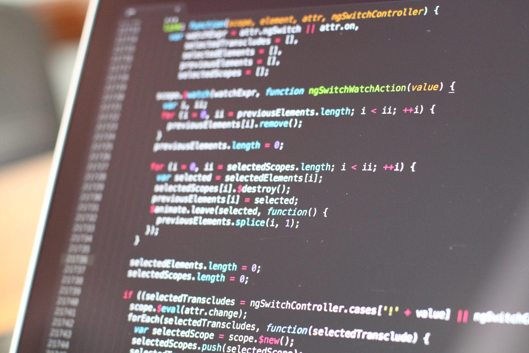 Website Development on a laptop