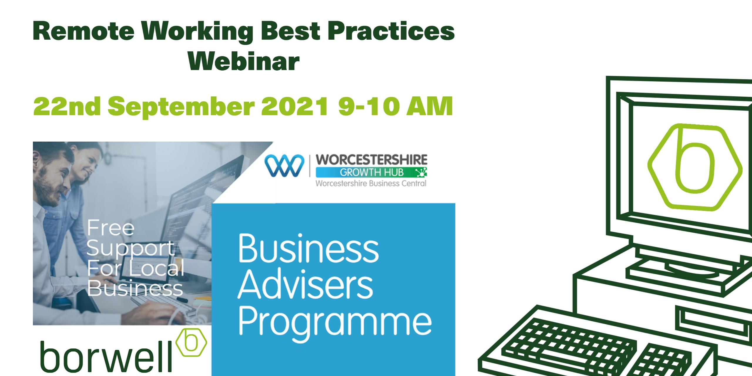 Business Adviser Programme - Remote Working Best Practices Webinar